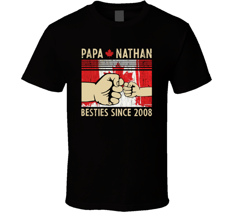 Papa And Son Besties Since 2008 (customize Name And Year) T Shirt