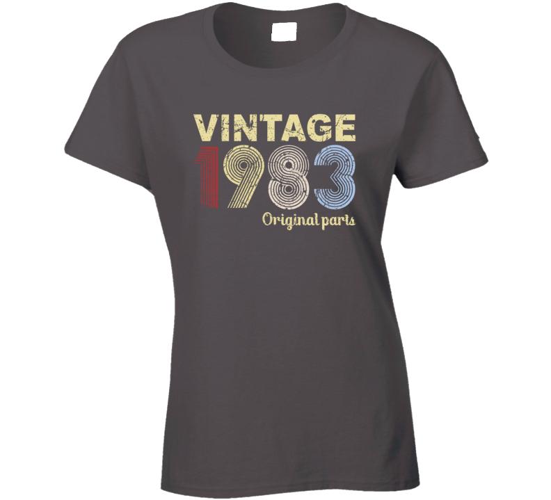 Vintage 1983 Original Parts Ladies T Shirt