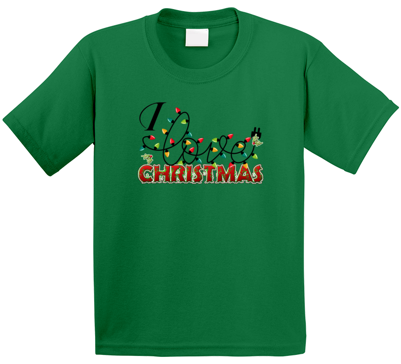 I Love Christmas T Shirt