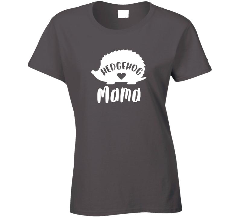 Hedgehog Mama Ladies T Shirt