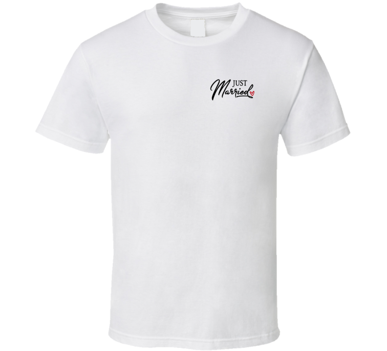 Just Married (pocket) T Shirt