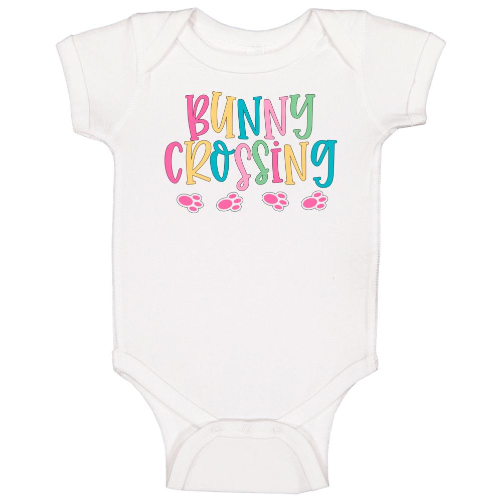 Bunny Crossing Baby One Piece