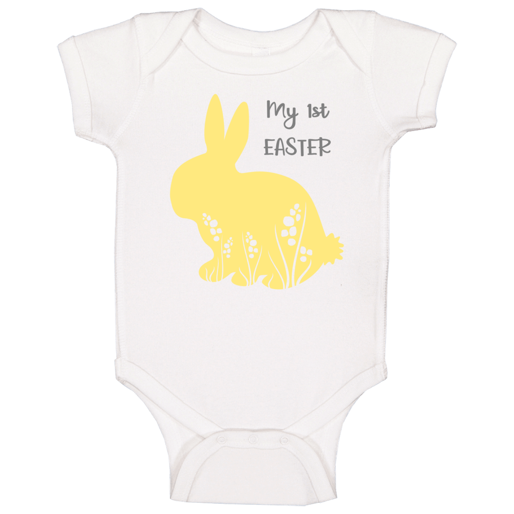 My 1st First Easter - Yellow Baby One Piece