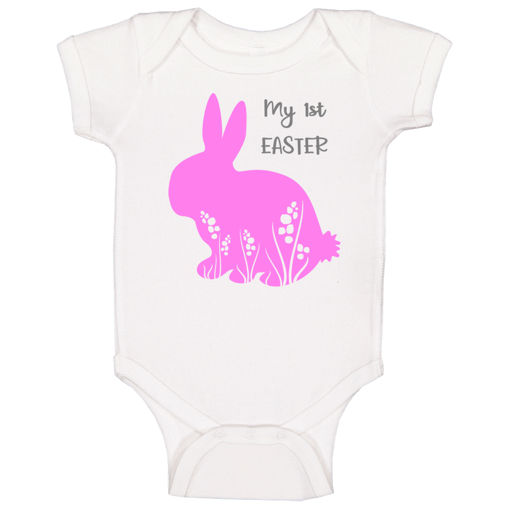 My 1st First Easter - Pink Baby One Piece