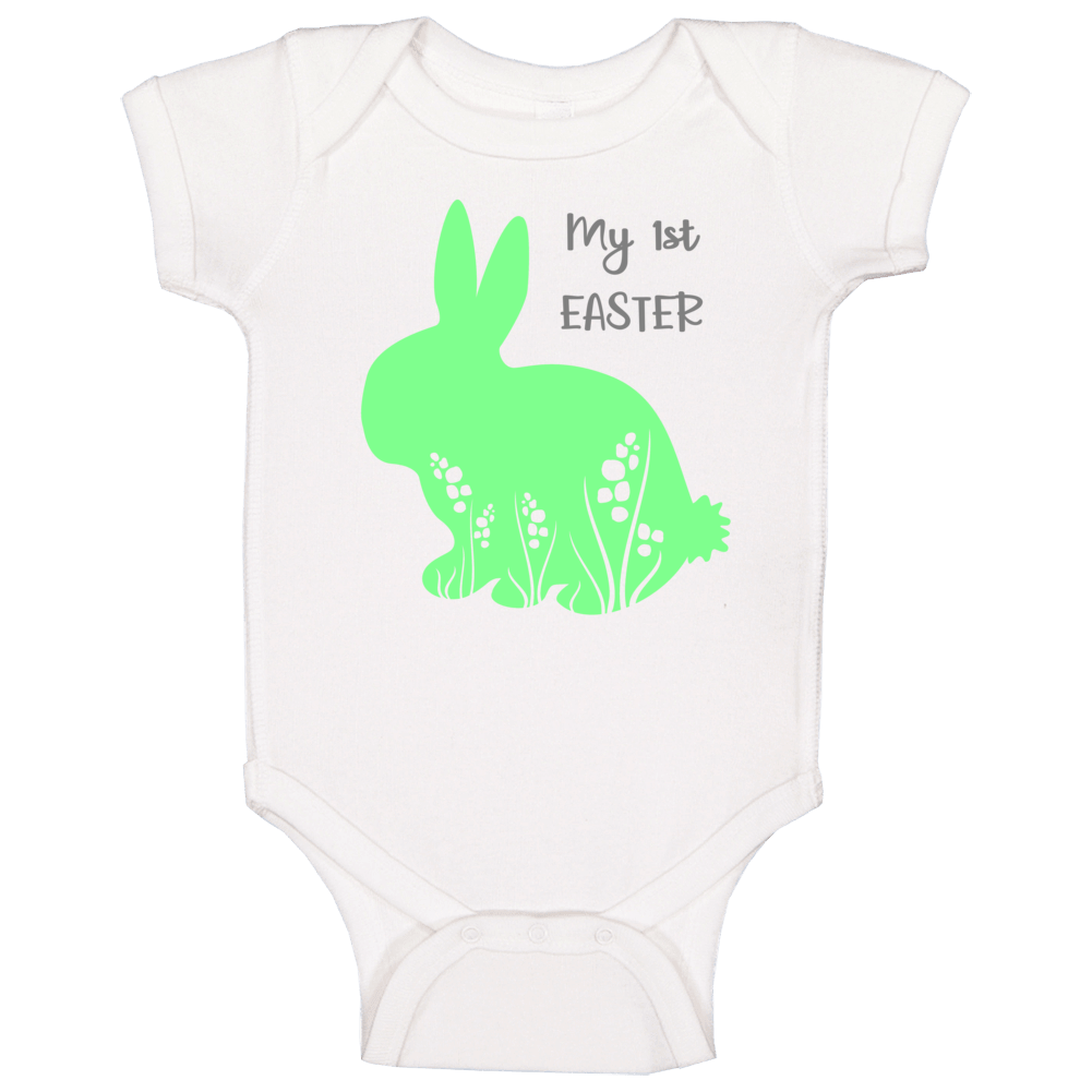 My 1st First Easter - Green Baby One Piece