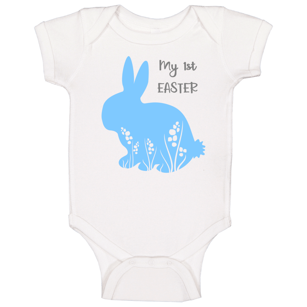 My 1st First Easter - Blue Baby One Piece