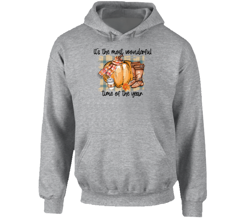 Fall It's The Most Wonderful Time Of The Year Hoodie