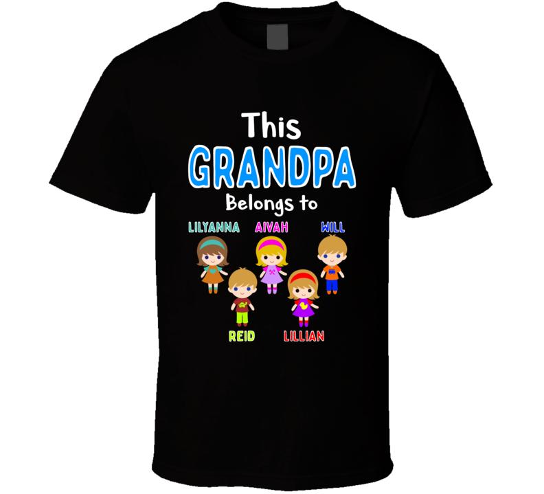 This Grandpa Belongs To  T Shirt