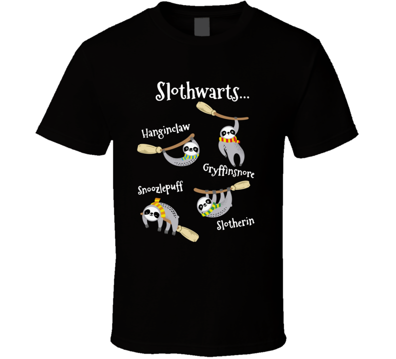 Slothwarts Harry Potter Hogwarts Parody Fan T Shirt