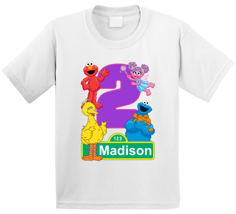 Sesame Street Birthday (customize With Name And Age) T Shirt
