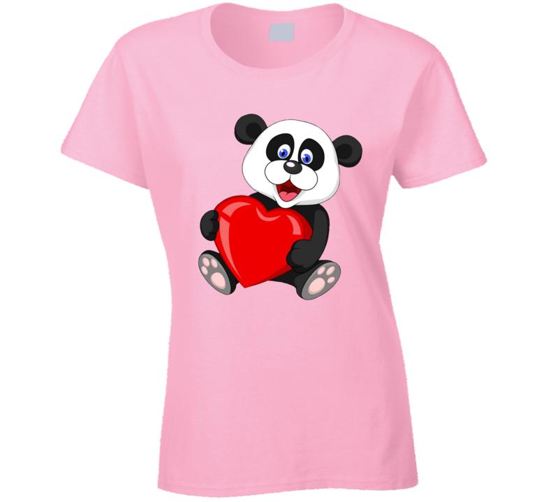 Panda Love Ladies T Shirt