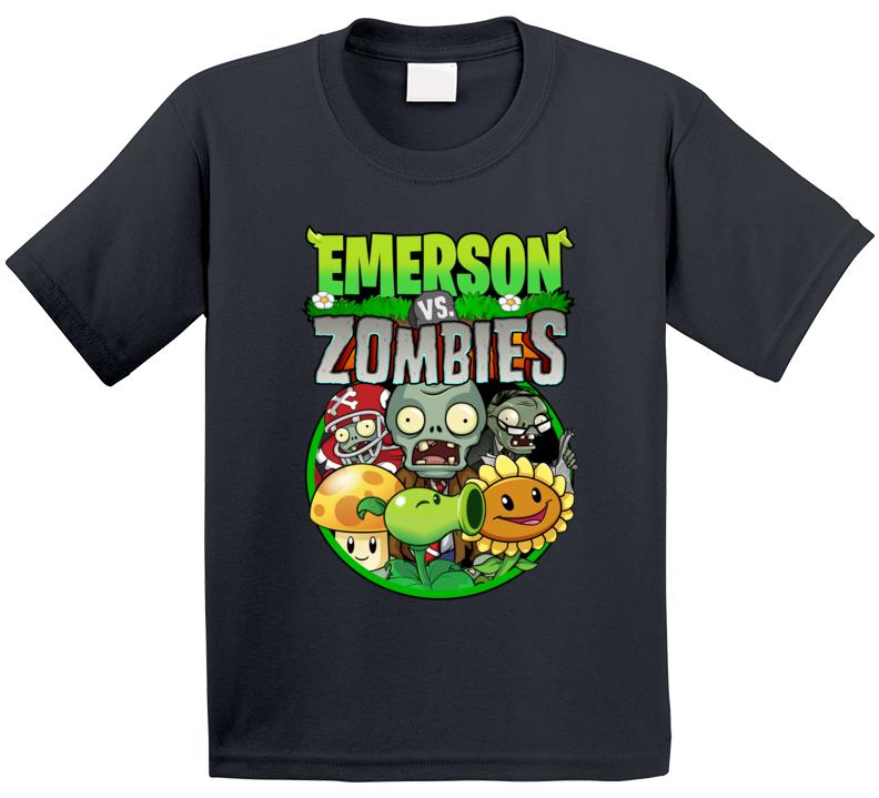 Pvz Fan Plants Vs Zombies (custom Name) Emerson T Shirt