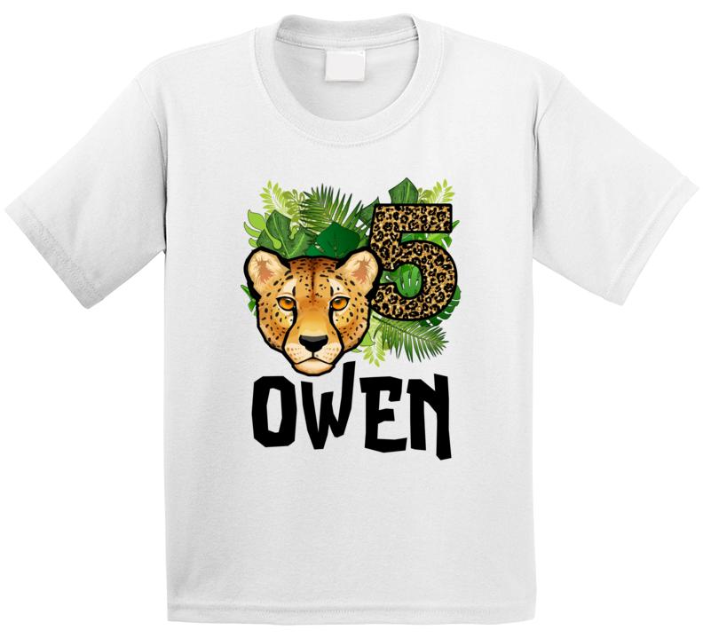 Owen's Wild 5th Birthday T Shirt