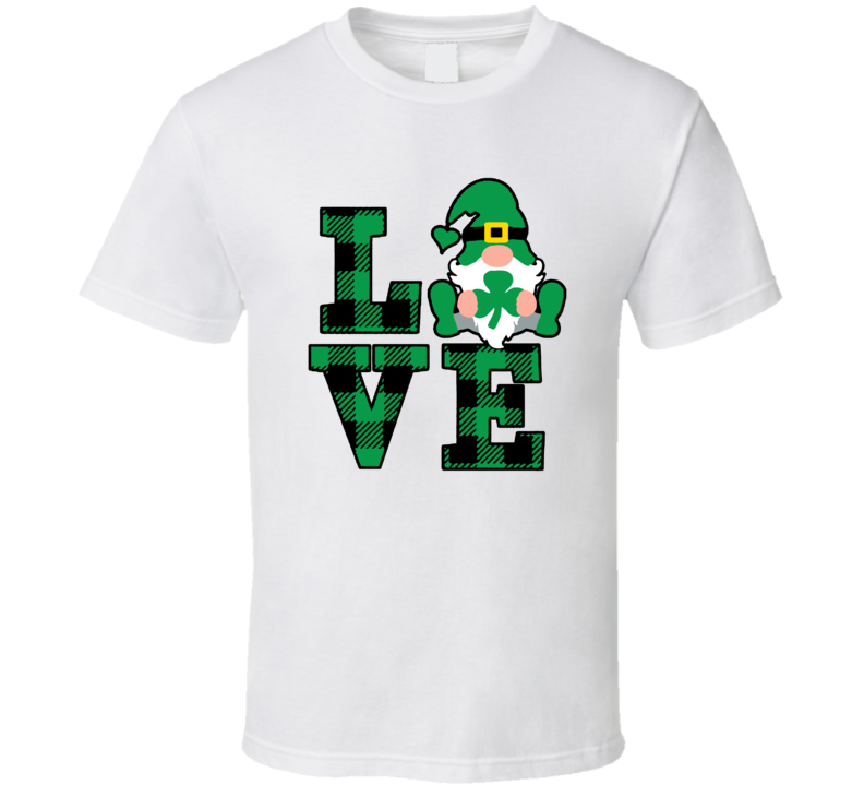 Love St. Patrick's Day Gnome T Shirt