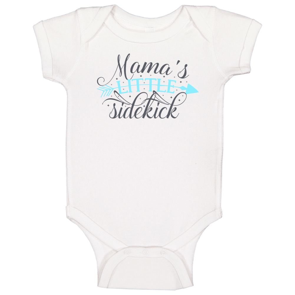 Mama's Little Sidekick (blue) Baby One Piece