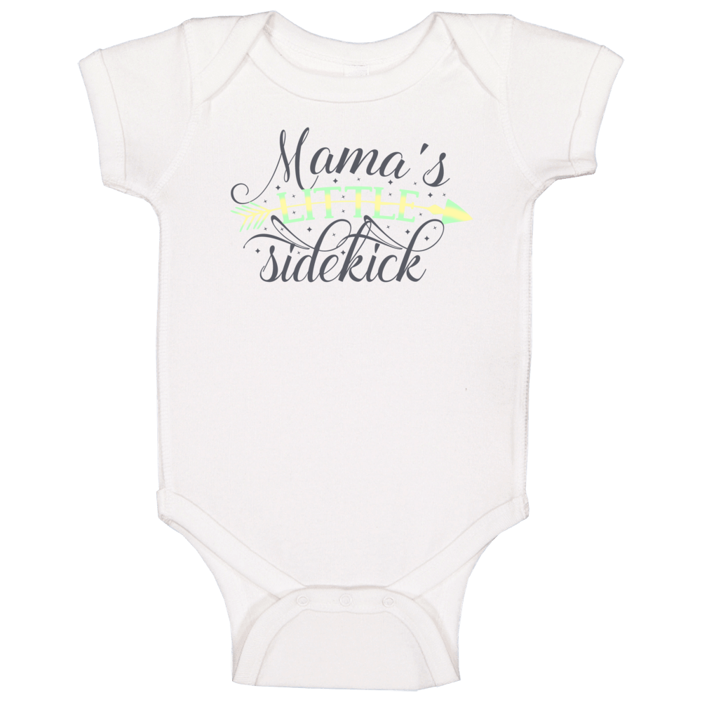 Mama's Little Sidekick (green/yellow) Baby One Piece