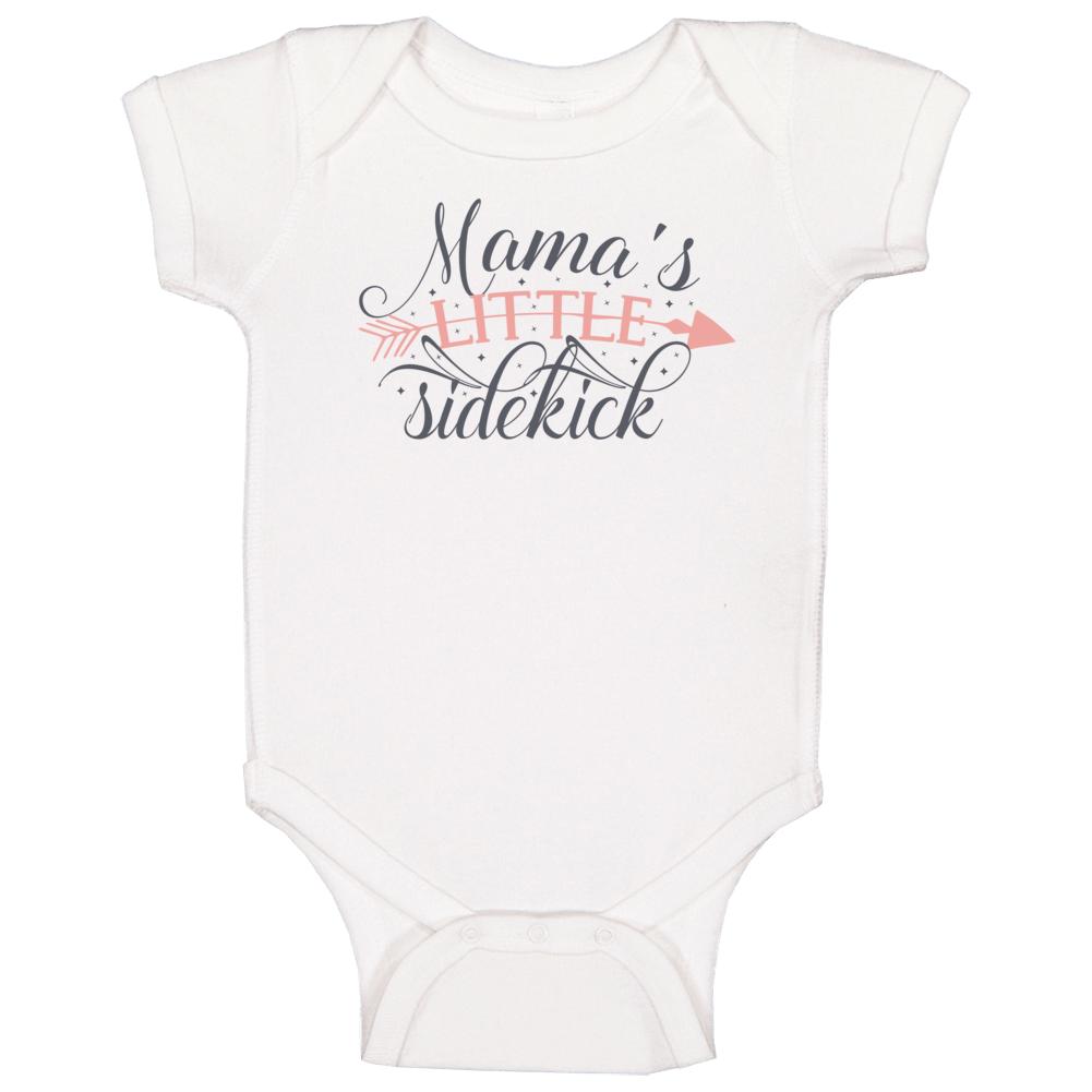 Mama's Little Sidekick (pink) Baby One Piece