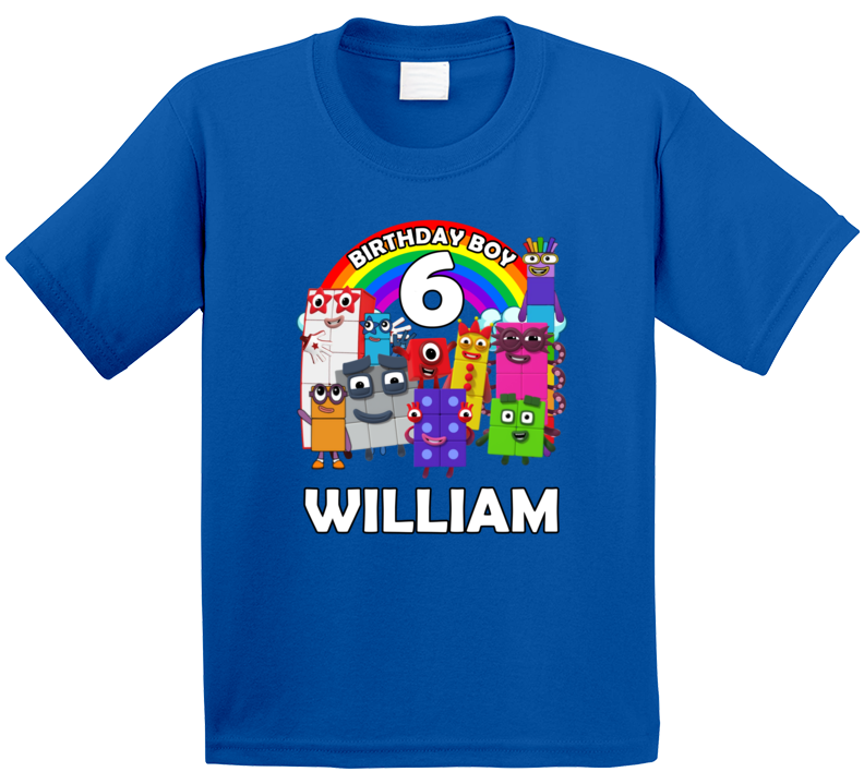 Numberblocks 6th Birthday Fan William T Shirt