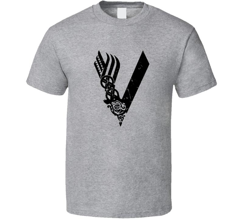 Vikings Fan Logo Distressed T Shirt