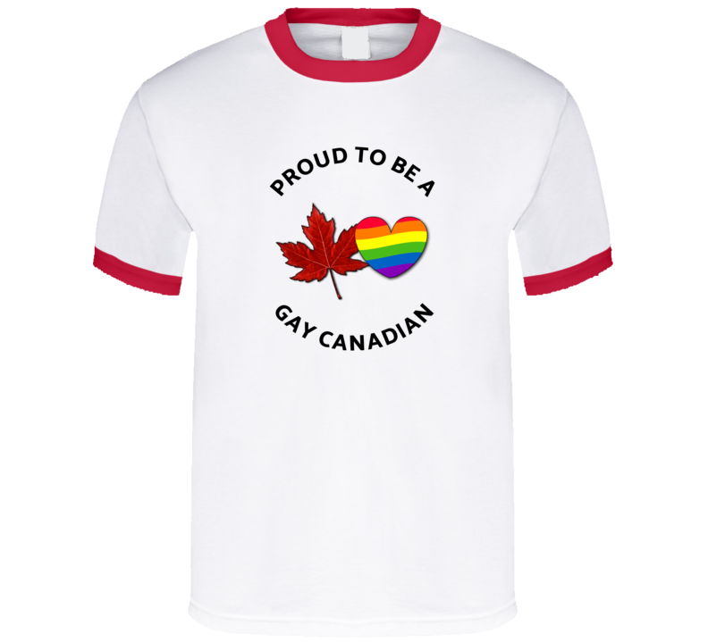 Proud To Be A Gay Canadian Lgtbq+ T Shirt