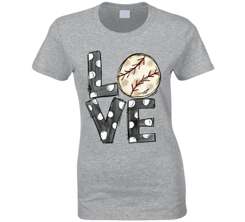 Baseball Lover Love Ladies T Shirt