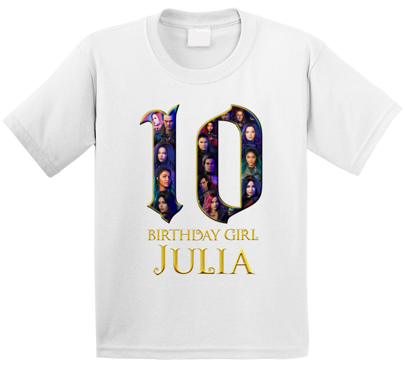 10th Birthday Descendants Fan  T Shirt