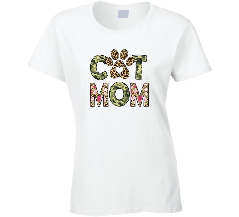 Cat Mom Ladies T Shirt