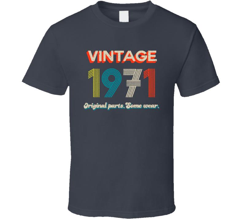 Vintage 1971 Original Parts. Some Wear. T Shirt