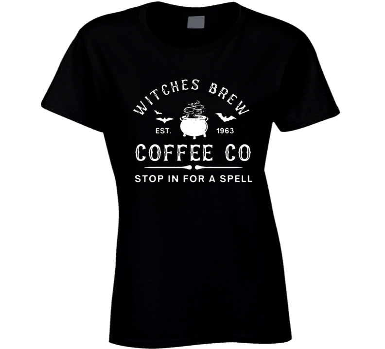 Sanderson Sisters Witches Brew Coffee Co Ladies T Shirt