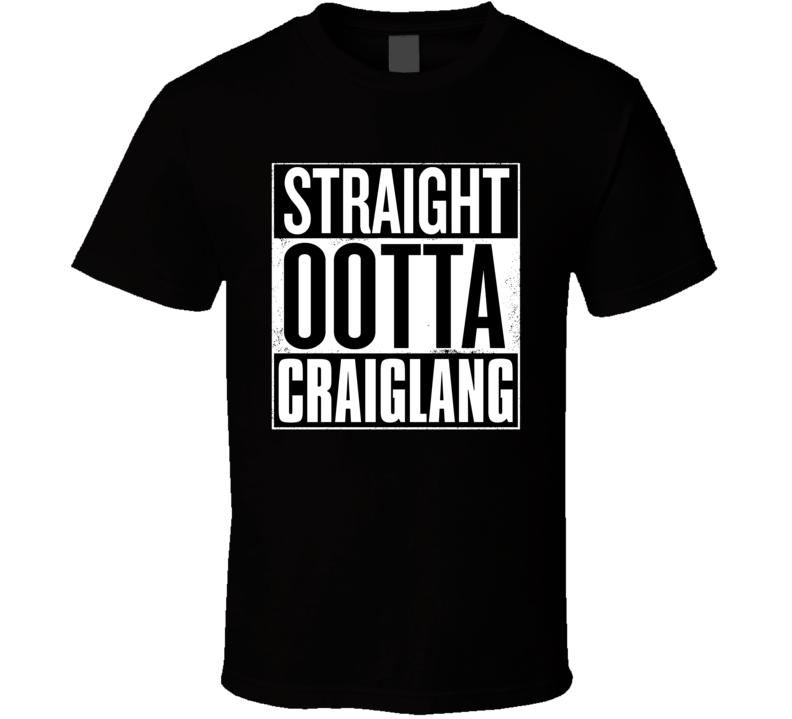 Straight Ootta Craiglang Still Game Scottish Sitcom Parody T Shirt
