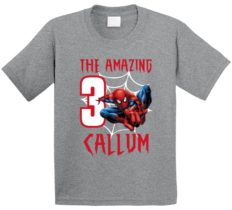 The Amazing Spiderman 3rd Birthday (customize Name / Age) T Shirt