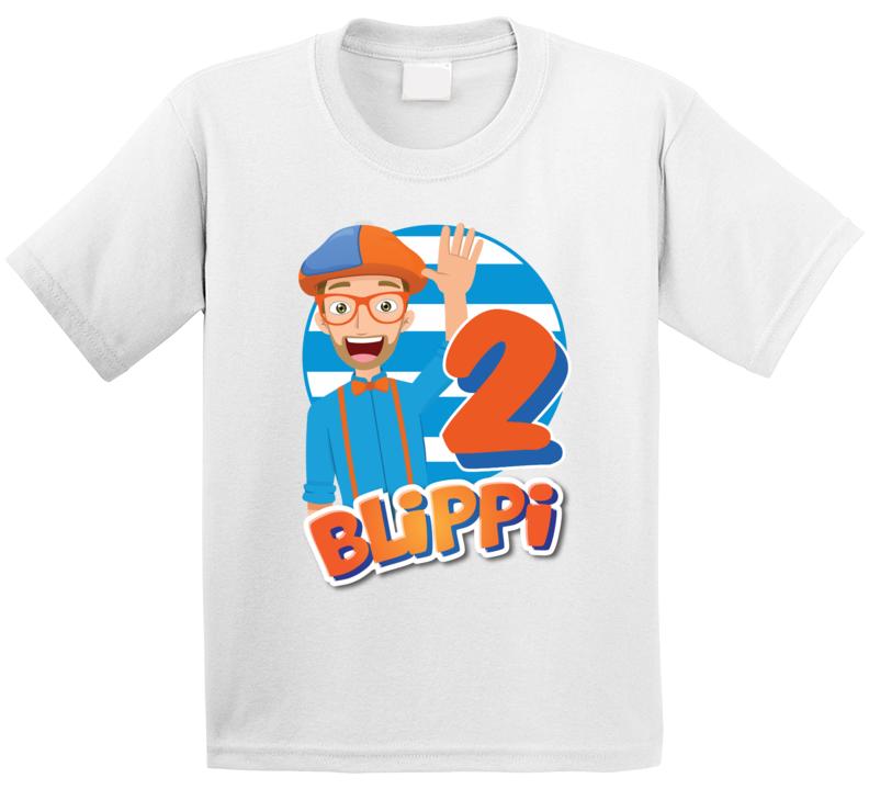 2nd Birthday Blippi Fan T Shirt