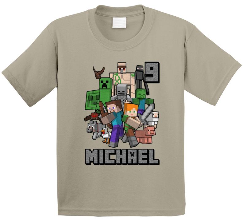 9th Birthday Minecraft Fan Michael T Shirt