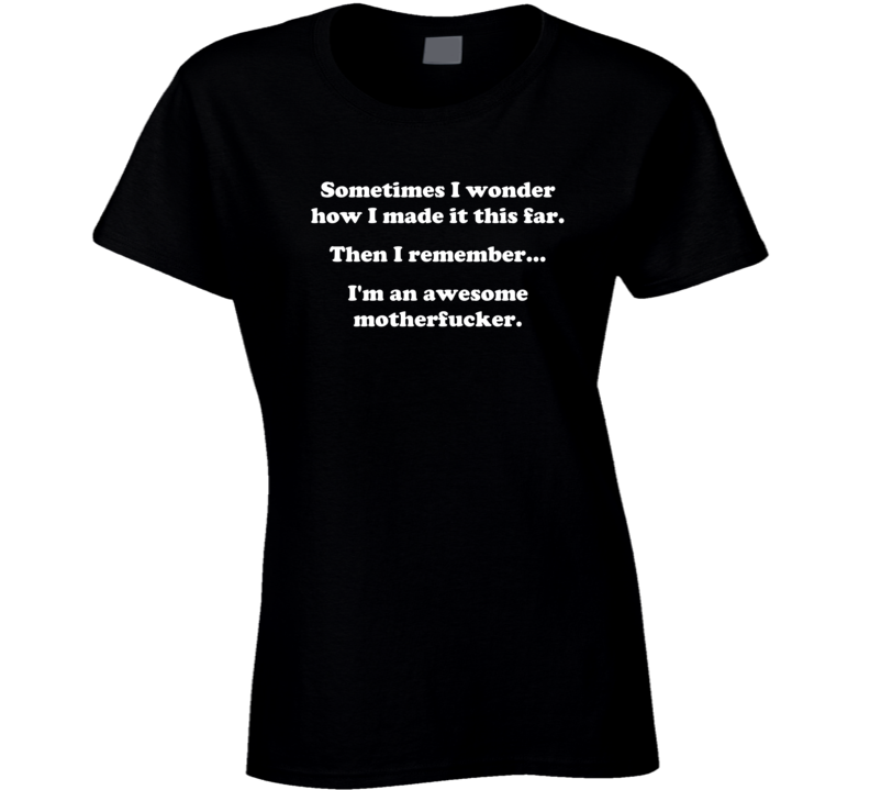 I'm An Awesome Motherfucker Ladies T Shirt