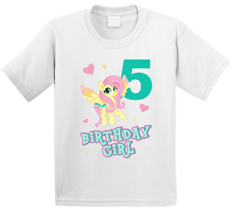 Fluttershy My Little Pony 5th Birthday Fan T Shirt