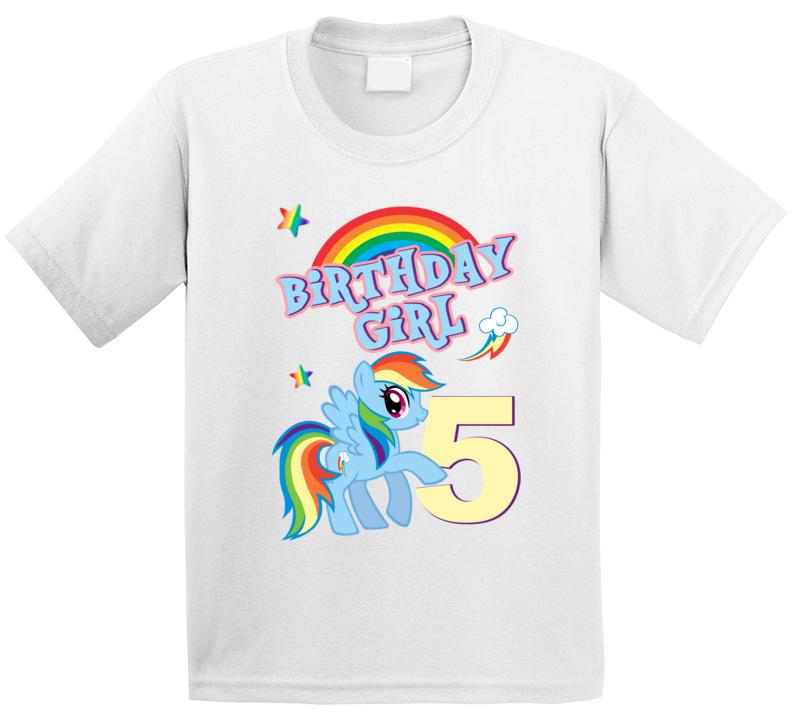 My Little Pony 5th Birthday Rainbow Dash Fan T Shirt
