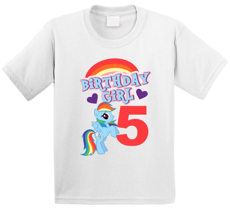 My Little Pony Rainbow Dash Birthday (customize Age) T Shirt