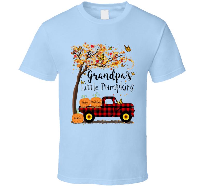 Grandpa's Little Pumpkins (customize With Names) T Shirt