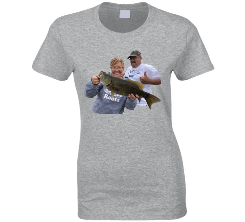 Bass Fisherman C Ladies T Shirt