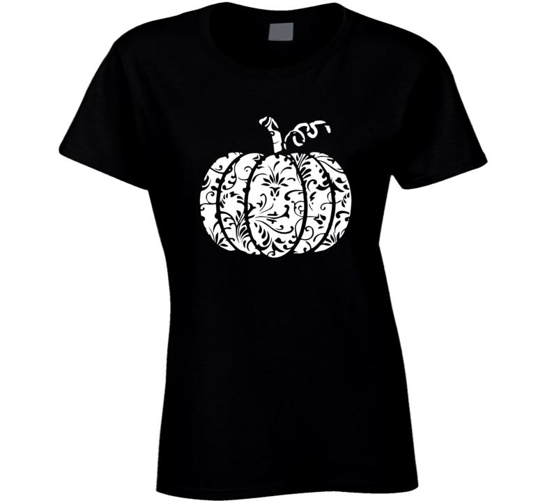 Lace Pumpkin Ladies T Shirt