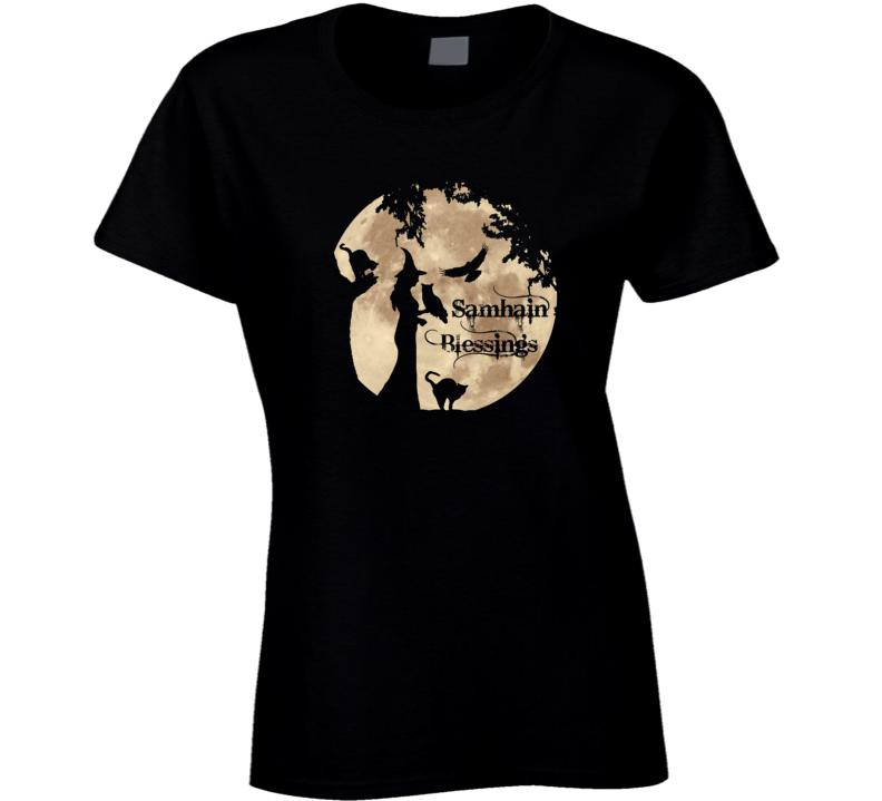 Samhain Blessings Ladies T Shirt