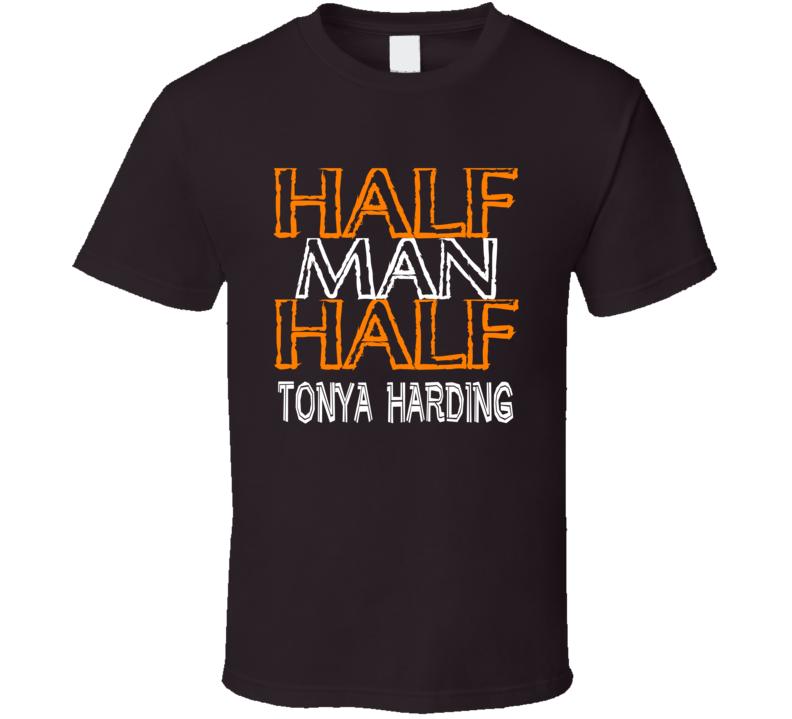 Half Man Half Tonya Harding Boxer T Shirt