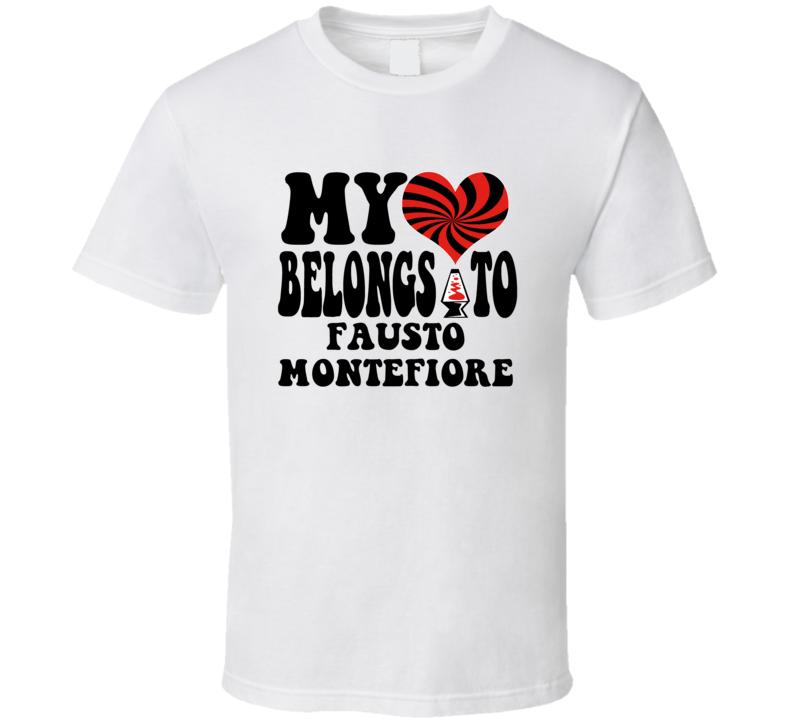 My Heart Belongs To Fausto Montefiore Boxer T Shirt