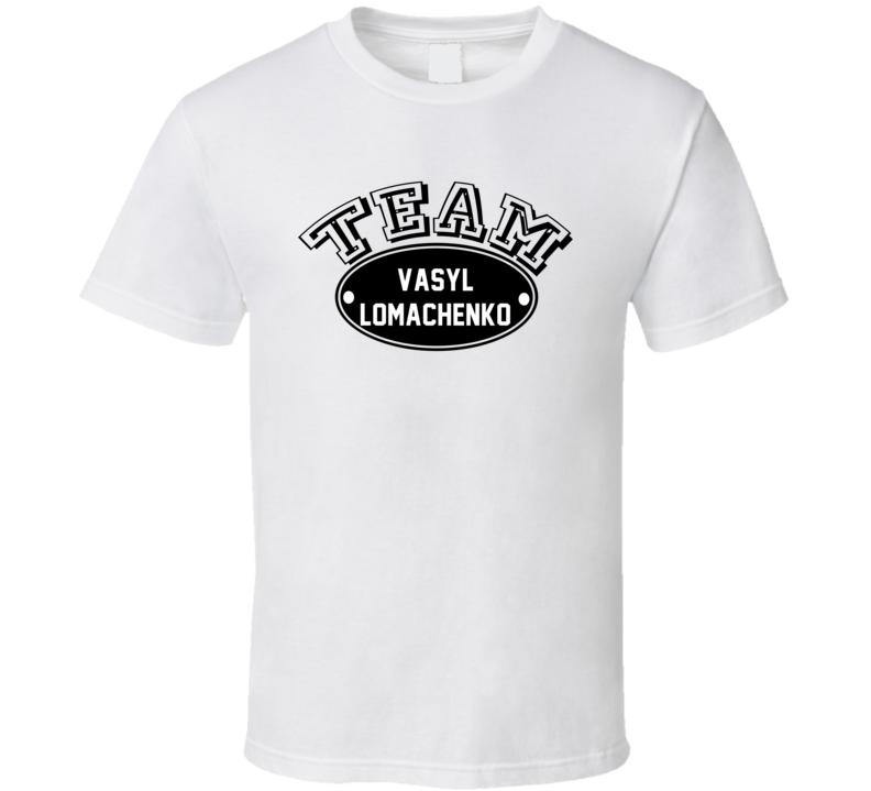 Team Vasyl Lomachenko Boxer Sports Theme T Shirt