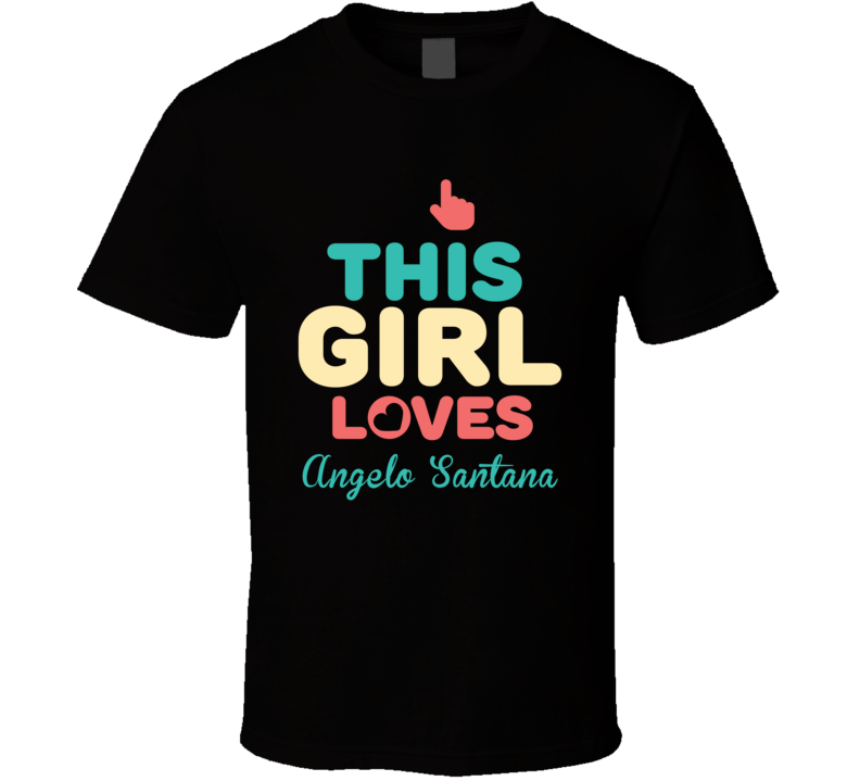 This Girl Loves Angelo Santana Funny Boxer T Shirt
