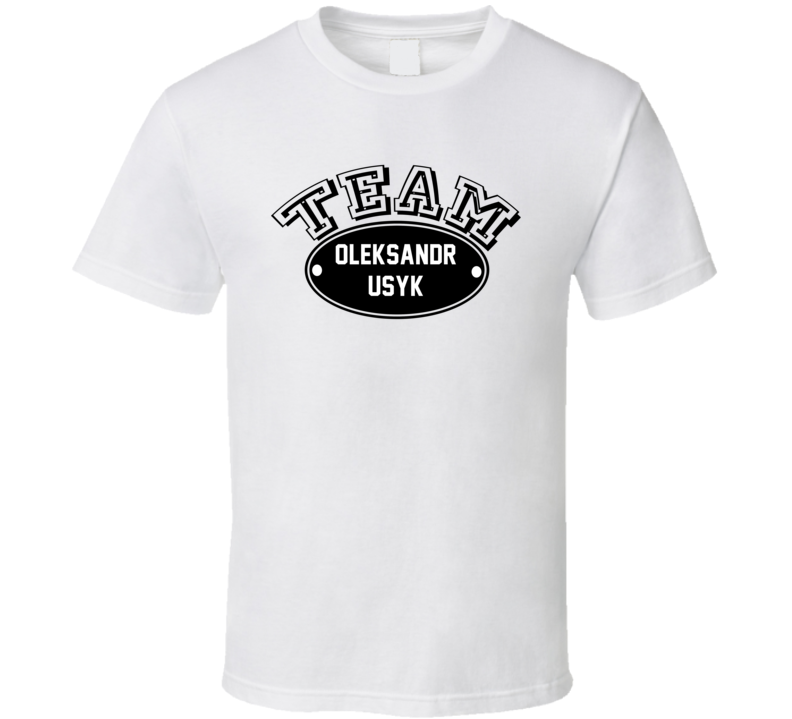 Team Oleksandr Usyk Boxer Sports Theme T Shirt