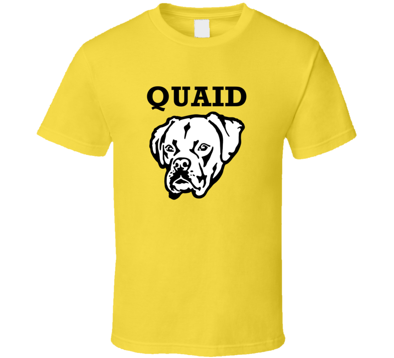 Quaid Boxer Big Head Pet Best Friend Dog Lover T Shirt