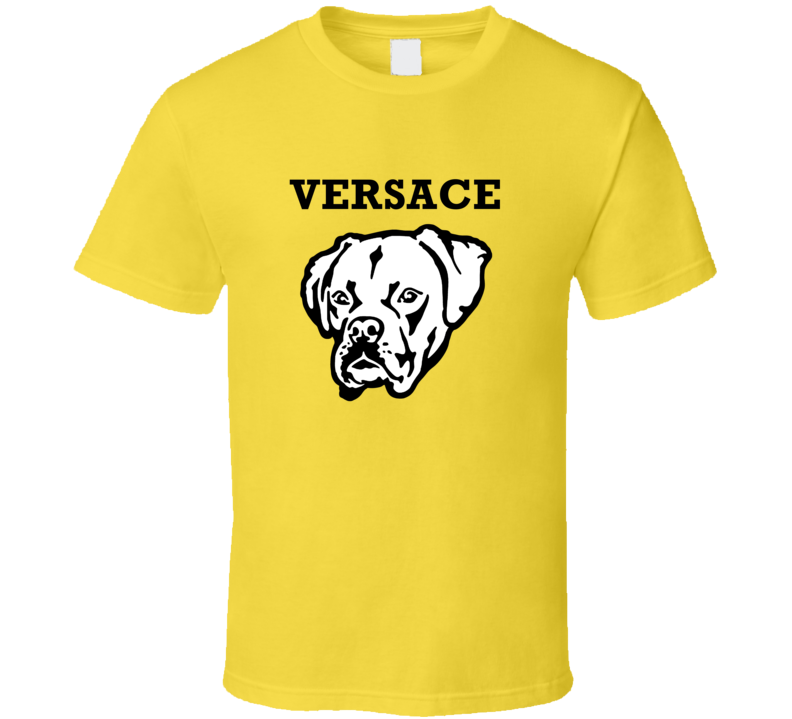 Versace Boxer Big Head Pet Best Friend Dog Lover T Shirt
