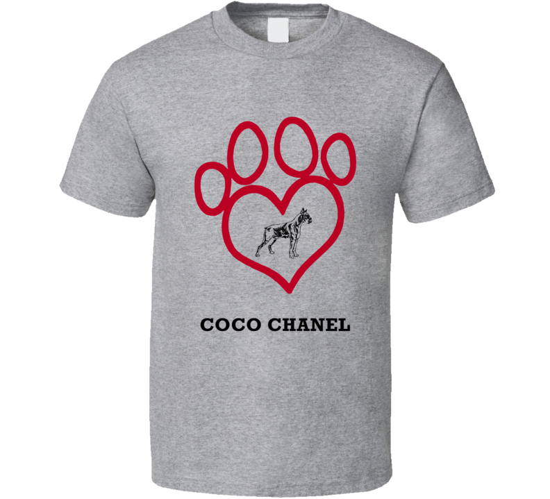 Coco Chanel Boxer Heart Love Best Friend Heart T Shirt