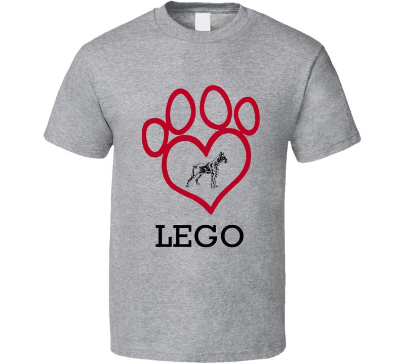Lego Boxer Heart Love Best Friend Heart T Shirt